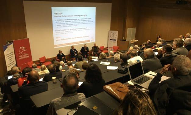 Réunion d'info du CROS Nouvelle-Aquitaine #GE #Paris2024 #gouvernance