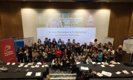 Semaine Olympique Paralympique  2019, plus de 100 projets en Nouvelle-Aquitaine
