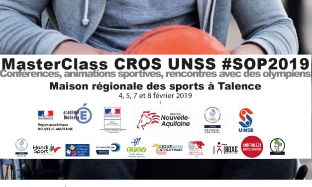 #SOP2019 – 350 jeunes réunis à Talence en présence d'olympiens !
