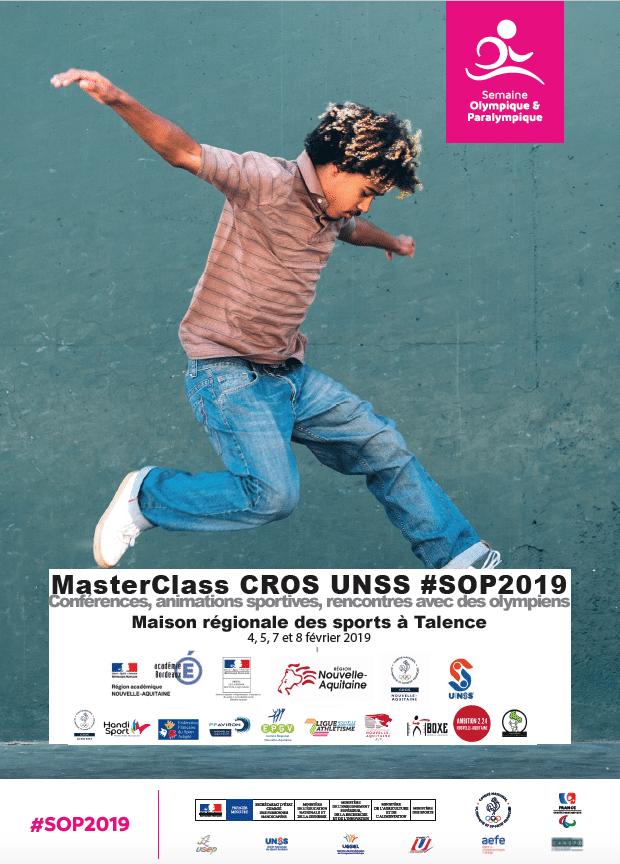 SOP MasterClass Nouvelle-Aquitaine 2019 CROS UNSS