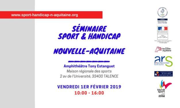 Déploiement d'une politique territoriale « Sport & Handicap Nouvelle-Aquitaine »