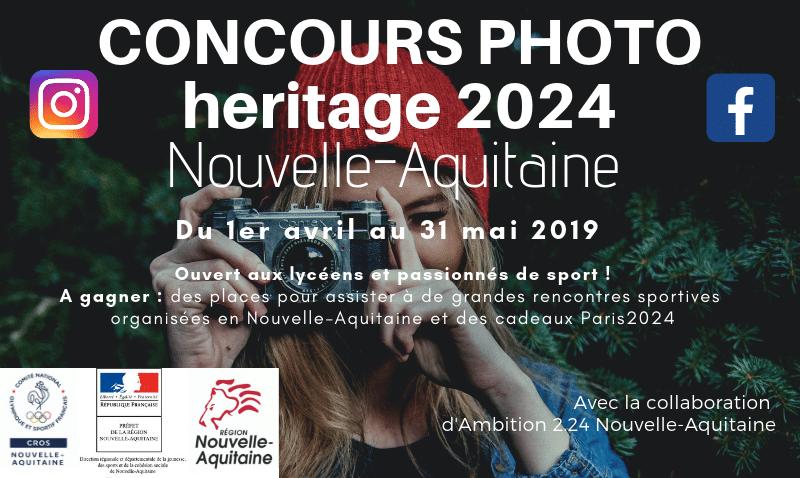 Heritage 2024 – Le CROS Nouvelle-Aquitaine lance un concours photo sur les réseaux sociaux !
