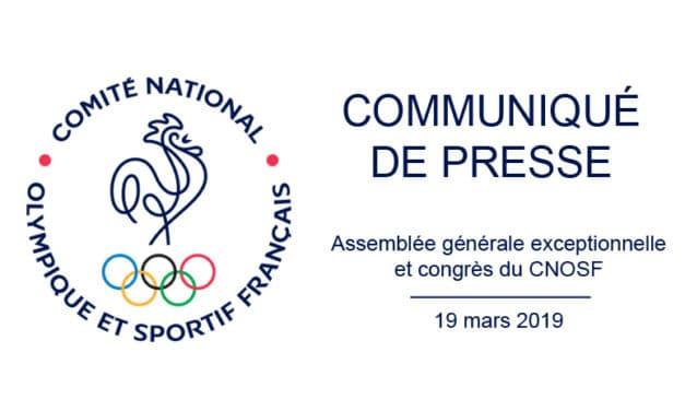 Assemblée générale exceptionnelle et congrès du CNOSF