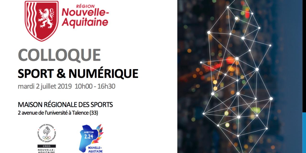 Colloque Sport Numérique le 2 juillet à Talence : accélérer l'innovation numérique en Nouvelle-Aquitaine