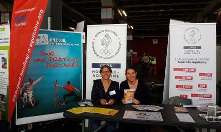 Le CROS était au 8ème forum Handi CAP Nouvelle-Aquitaine
