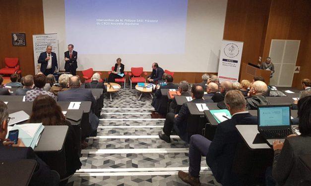 Assemblée générale de la CCI Nouvelle-Aquitaine à la Maison des sports à Talence
