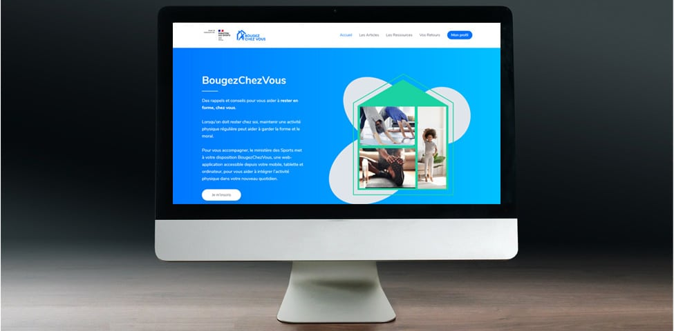 Le Ministère des Sports lance son application web BougezChezVous.fr