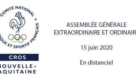 Retour sur les Assemblées Générales extraordinaire et ordinaire 2020 du CROS Nouvelle-Aquitaine