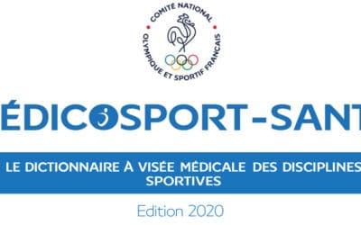 Sport sur prescription médicale : publication du Médicosport-santé 2020