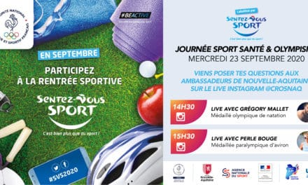 Save The Date – Mercredi 23 septembre – LIVE avec nos Olympiens