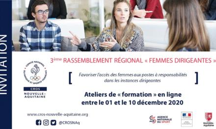 Ateliers thématiques du 3ème rassemblement régional « Femmes Dirigeantes » en visioconférence
