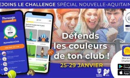 Le CROS Nouvelle-Aquitaine, lance un Challenge digital #JaimeMonClub du 25 au 29 janvier