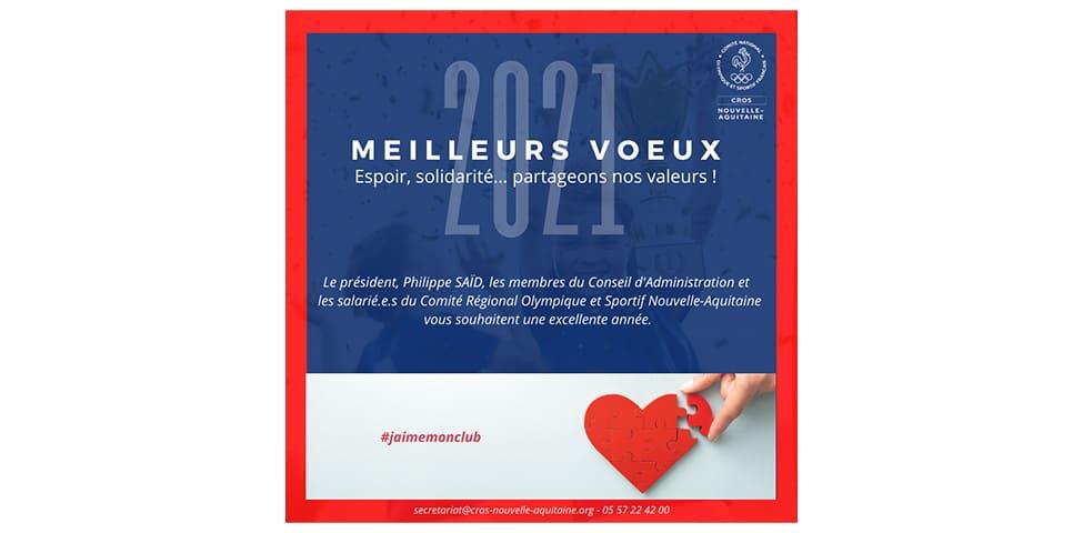 2021 : Les voeux du Président du Comité Régional Olympique de Nouvelle-Aquitaine