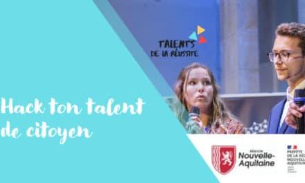 Jeudi 11 mars 2021, le Comité Régional Olympique et Sportif Nouvelle-Aquitaine participera à l'événement « Hack ton talent de citoyen »