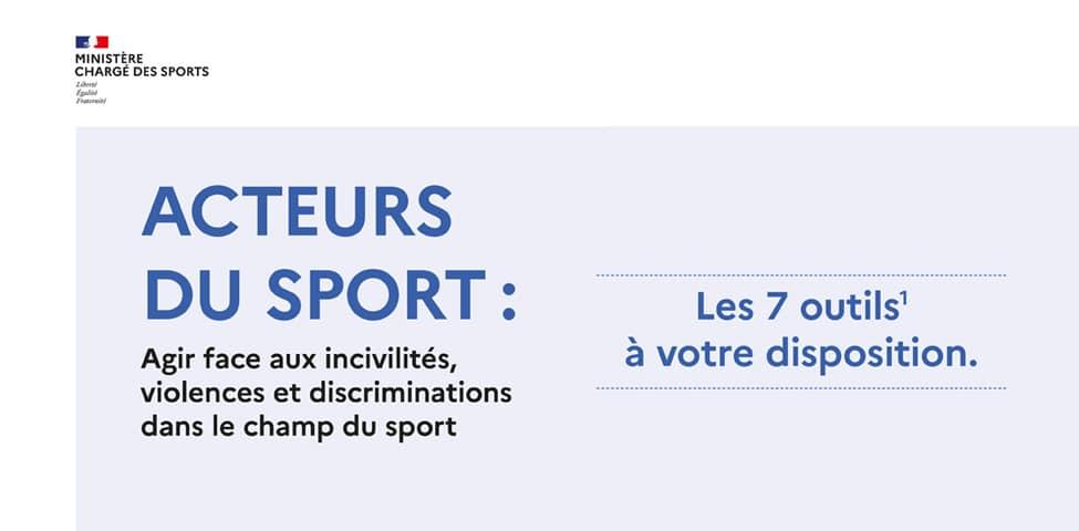 7 outils à votre disposition pour la prévention des violences et discrimination dans le sport