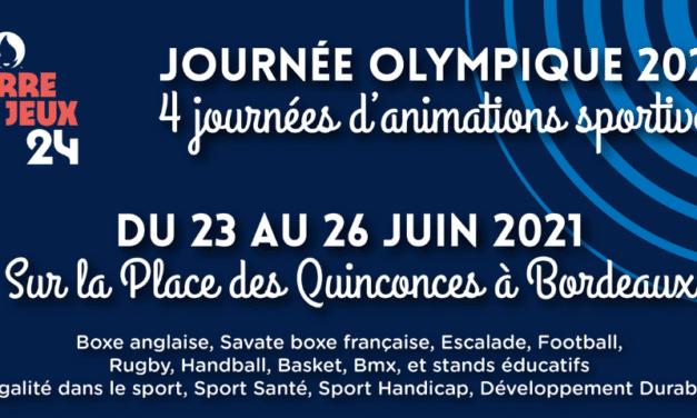 Du 23 au 26 juin la Journée Olympique et Paralympique s'installe sur la place des Quinconces de Bordeaux.