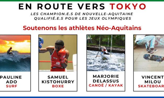 Jeux Olympiques TOKYO – 8 médailles pour la Nouvelle-Aquitaine