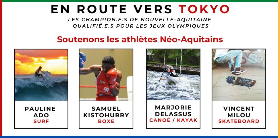 Ensemble soutenons nos 31 athlètes présents aux Jeux Olympiques de TOKYO!