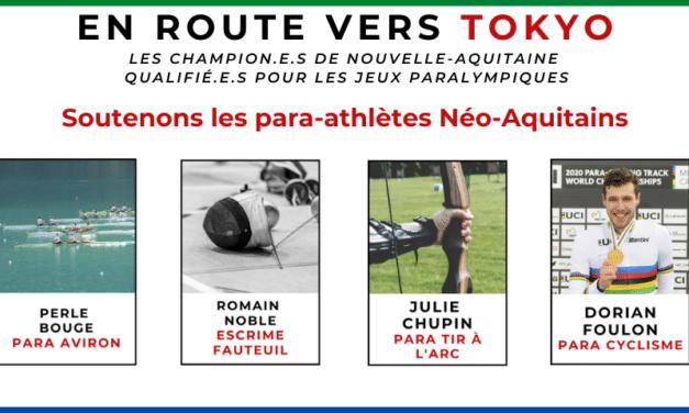 Jeux Paralympiques, soutenez les 18 para-athlètes de Nouvelle-Aquitaine