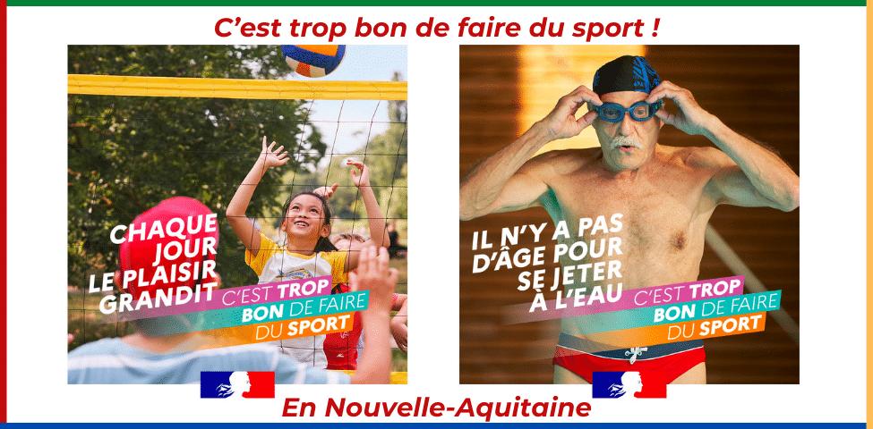 « C'est trop bon de faire du sport ! » dans l'un des 18000 clubs de Nouvelle-Aquitaine
