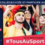 Le CROS et l'UNSS lancent le Challenge #TousAuSport du 13 au 17 septembre
