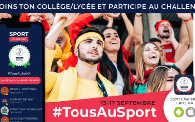 Retour sur le Challenge #TousAuSport