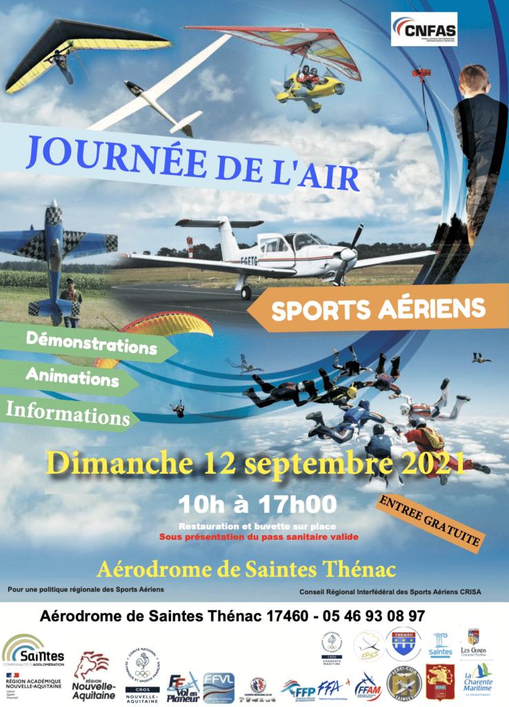 13ème Journée de l'air Nouvelle-Aquitaine, 12 septembre à Thénac (Saintes - 17)